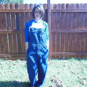 Vintage 1990's GAP denim overalls.