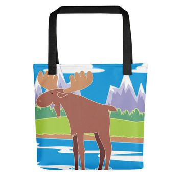 Moose Lake View Tote bag