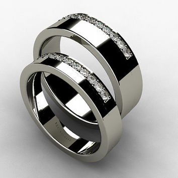 wedding band set titanium ring diamond titanium wedding band men wedding - Titanium Wedding Ring Sets