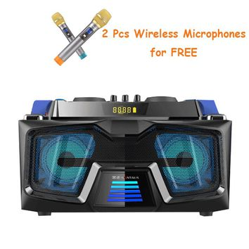 Bluetooth Portable Speakers with Wireless Mic