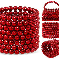 3mm Buckyballs Neocube Magnet Toy 216 PCs (Red)