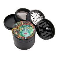 "Earth Design - 2.25"" Premium Black Herb Grinder - Custom Designed"