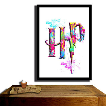 Harry Potter Poster, Rainbow coloured....Paint effect poster