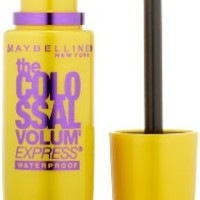 Maybelline New York The Colossal Volum' Express Waterproof Mascara, Glam Black 240, 0.27 Fluid...