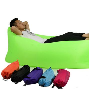 High Quality Outdoor Portable Air Pocket Inflatable Collapsible Sofa Bed