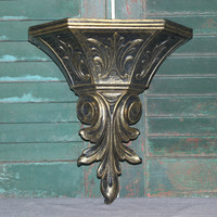 Large decorative bronze Dart wall pocket, sconces, wall decor, planter vase, gold decor, Medieval decor
