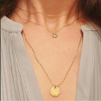Shiny New Arrival Jewelry Gift Stylish Metal Sweater Chain Necklace [9659243722]