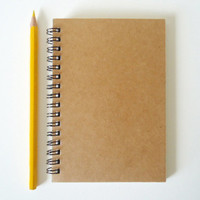 A6 Recycled Notebook Journal in Kraft Cardstock