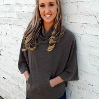 Charcoal Poncho Sweater