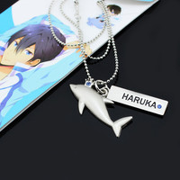Anime Free! Iwatobi Swim Club Cosplay HARUKA dolphin crown necklace pendant