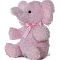 Aurora Plush Baby 12 inches Pink Lotsa Dots Elephant:Amazon:Toys & Games