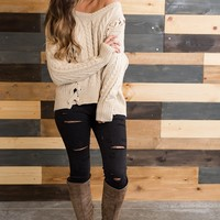Tommy Braided Sweater (Oatmeal)
