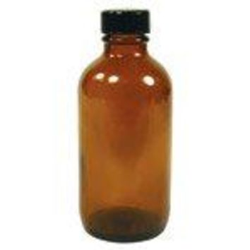 Frontier Natural Products - Amber Glass Round Bottle with Black Cap - 4 oz.