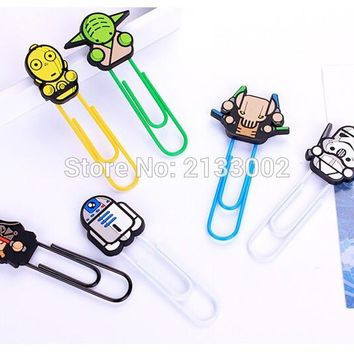 Creative Star Wars Darth Vader Paper Clip Bookmark Promotional Gift Stationery School Office Supply