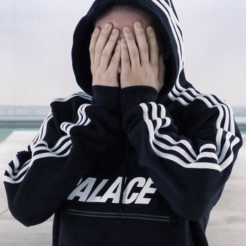 Palace Three Stripe Reflective Men's Hoodie