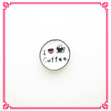 Hot selling 20pcs/lot I love coffee floating charms living glass memory floating lockets diy jewelry