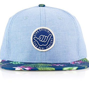 Real Tropical Cham Blue Chambray Hang Loose Patch Hat