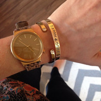 one personalized bracelet, choose the material and your own words and symbols