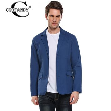 COOFANDY New Arrival  Business Casual Suit Men Blazer Professional Beautiful Design Solid Color Breathable Slim Fit