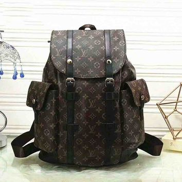 LV x Supreme Fashion Leather Daypack Travel Bag School Bag Bookbag Backpack G-LLBPFSH