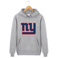 New York Print Giants Winter Brand Clothing Men Sweatshirt Fleece Hoodie
