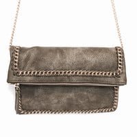 Octavia Chain Crossbody Handbag In Olive