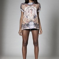 KALEIDOSCOPE SUBLIMATION ALLOVER PRINT TEE - Apparel