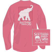 Southern Fried Cotton - Red White & Elephant L/S
