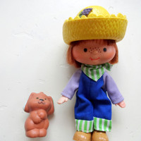 Vintage Huckleberry Pie Doll with Pupcake The Dog 1980s