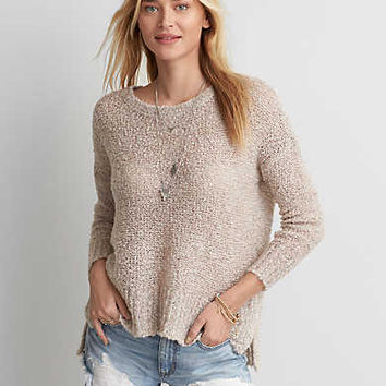 AEO Boucle Sweater, Pink
