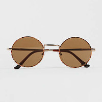 Metal Tortoise Shell Sunglasses