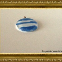 Big Round Glass Pendant from Elke'sCreations