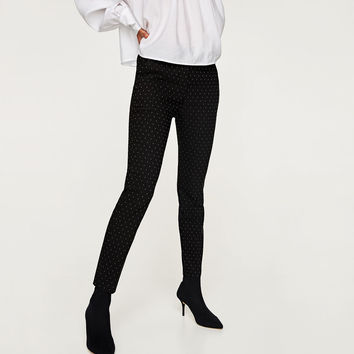 STRETCH WAIST SKINNY TROUSERS DETAILS