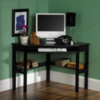 SEI Corner Desk, Black