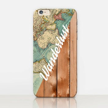 Wanderlust Quote Phone Case- iPhone 6 Case - iPhone 5 Case - iPhone 4 Case - Samsung S4 Case - iPhone 5C - Tough Case - Matte Case - Samsung