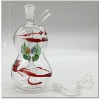 Colorful oil rig motorcycle beaker mini bong water pipes oil rigs recycler glass bongs water pipe smoking pipes hookahs