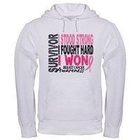 Survivor 4 Breast Cancer Shirts and Gifts Hoodie by pinkribbon01
