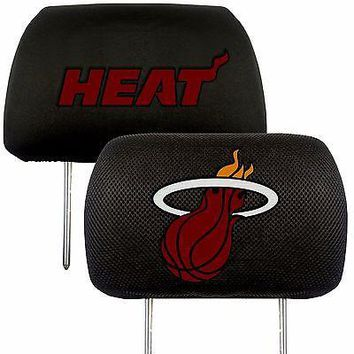 Miami Heat  2-Pack Auto Car Truck Embroidered Headrest Covers