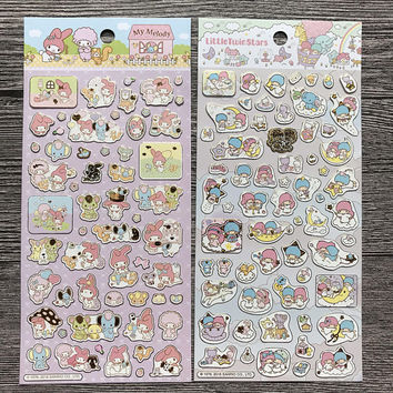 Little Twin Stars Sticker or My Melody Sticker - Sanrio stickers - 2016 Sanrio