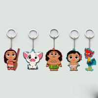 Movie Series Princess Moana Principessa Baby Maui Cute Cartoon Keychain Keyring Toy Figures For Kids Gift