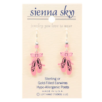 Sienna Sky Pink Ballet Slippers/Toe Shoes Earrings