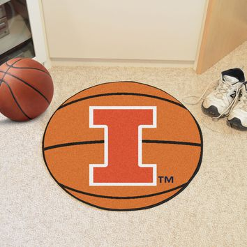 "Illinois Basketball Mat 27"" diameter"