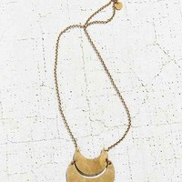Laurel Hill Double Crescent Necklace- Gold One