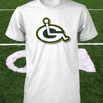 Funny Packers Shirt Green Bay Youth Injury Logo Wheelchair Boys Shirt Ladies Cheesehead Tee Wisconsin The Pack Football S M L XL 2XL 3XL 4X