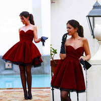 Lovely Sweetheart Homecoming Dresses 2016 Short Homecoming Dress
