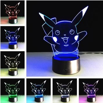 Pikachu Led Night Light Atmosphere Lamp Festival Lantern Christmas Decoration Supply Glow Accessory Wedding Party FavorsKawaii Pokemon go  AT_89_9