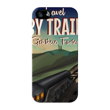 Travel by train Full Wrap High Quality 3D Printed Case for iPhone 5 / 5s by Nick Greenaway