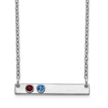Personalized Crystal Birthstone 1 to 5 Bar Necklace