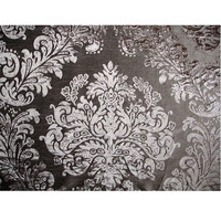 Silver And Grey Damask - Burnout Velvet on Fancy Fabric