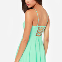 Show Me Love Cutout Mint Green Dress